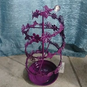 NWT! Purple Butterfly Jewelry Holder!